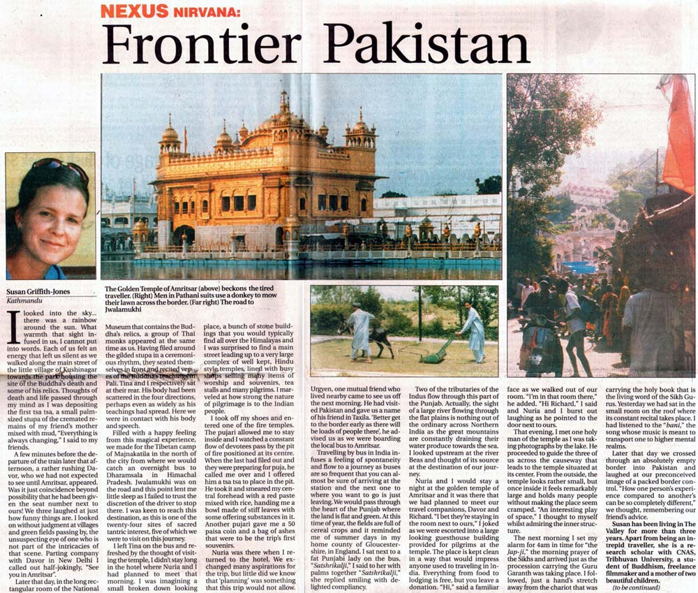 Article included in The Himalayan Times newspaper, Kathmandu on 6th February 2005