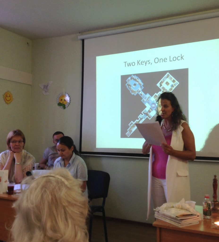 Susan delivering the lecture at Moscow Light Group July 2016 meeting