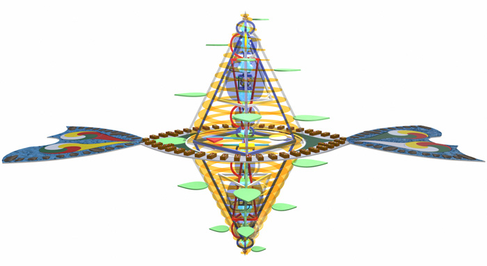 Computer generated image of 'The Magician's Jewel', without floor attached
